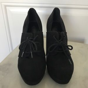 Forever 21  Faux Suede Lace-up Shoes